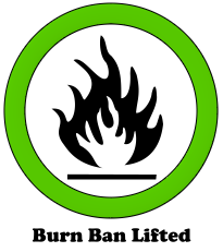 The burn ban is lifted